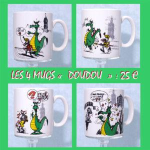 4 mugs doudou